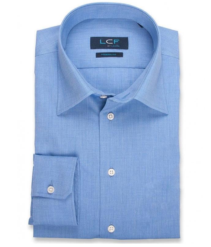 Overhemd Modern fit - Semi Spread - Blauw 8028519
