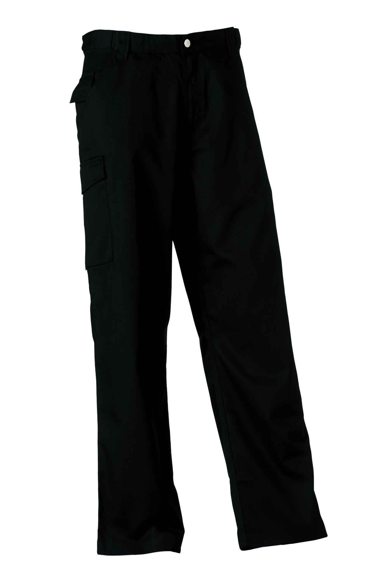 Polycotton Twill Trousers - Black - 28-32