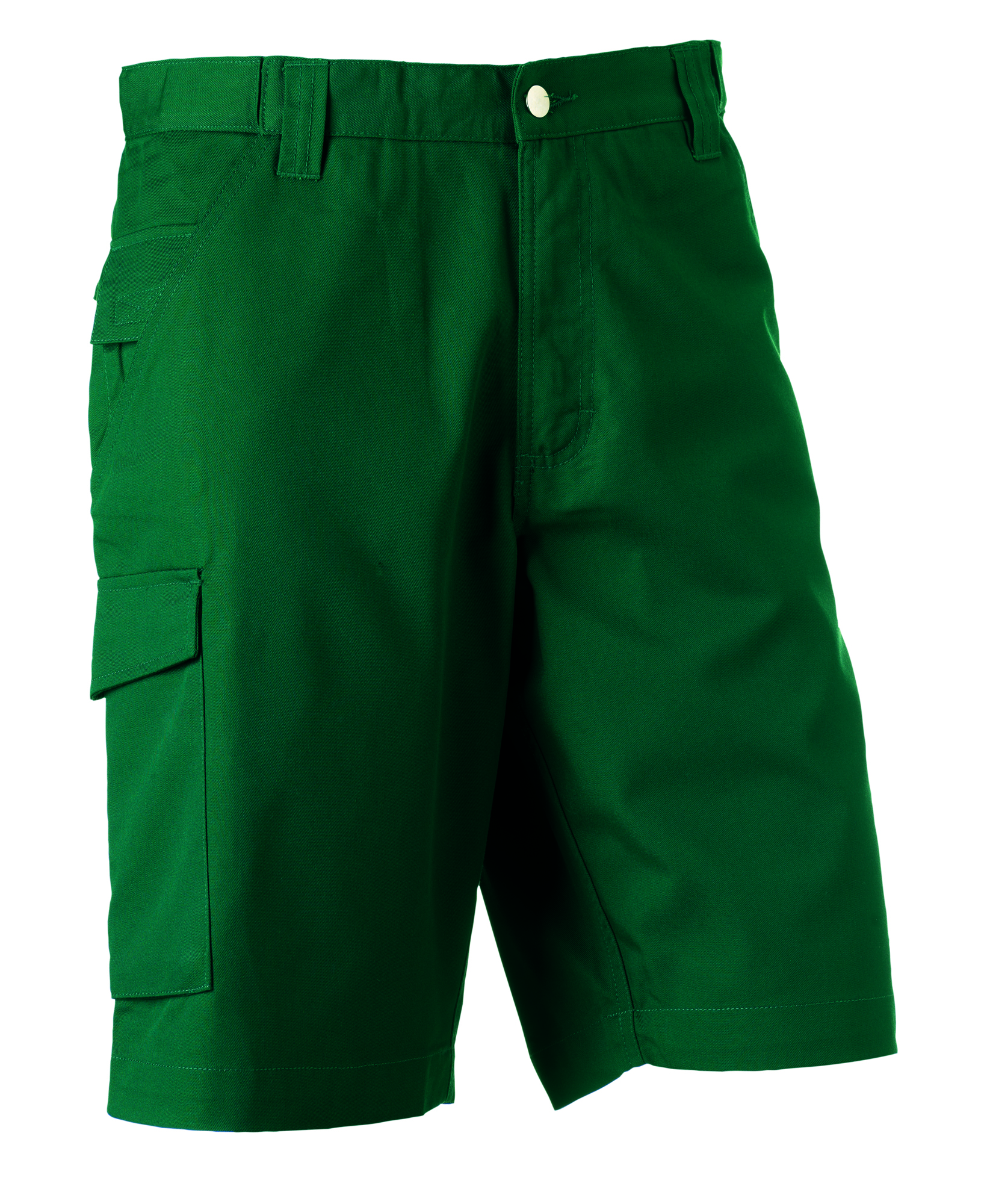 Polycotton Twill Shorts - Bottle Green - 30