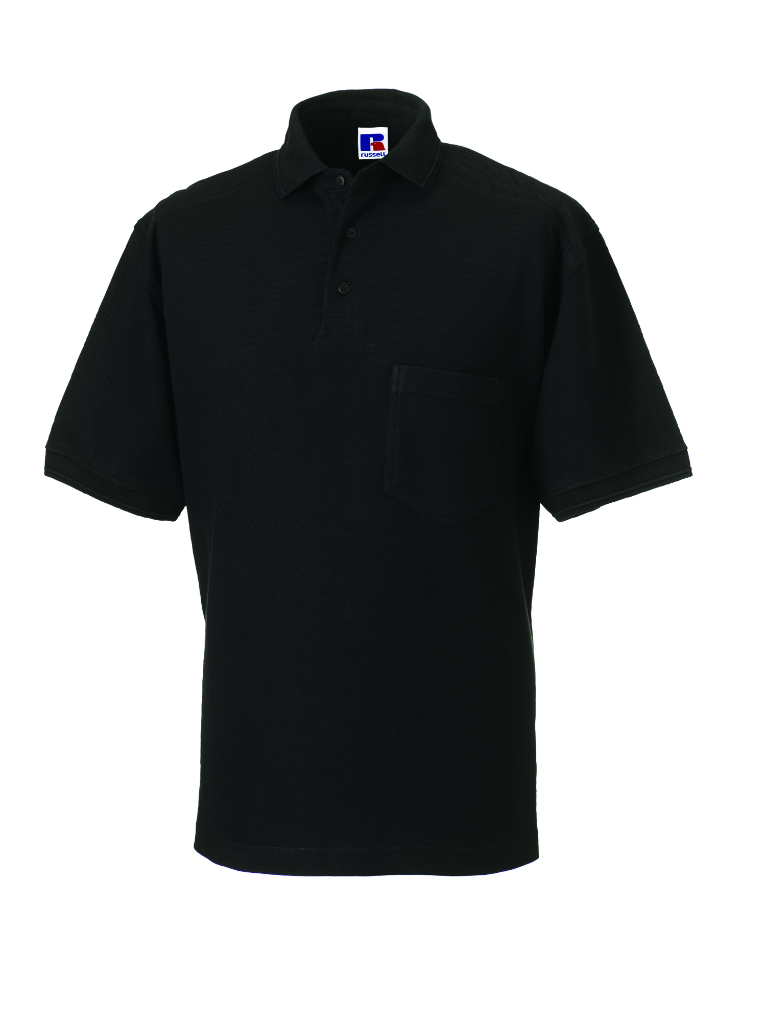 Heavy Duty Cotton Polo - Black - S