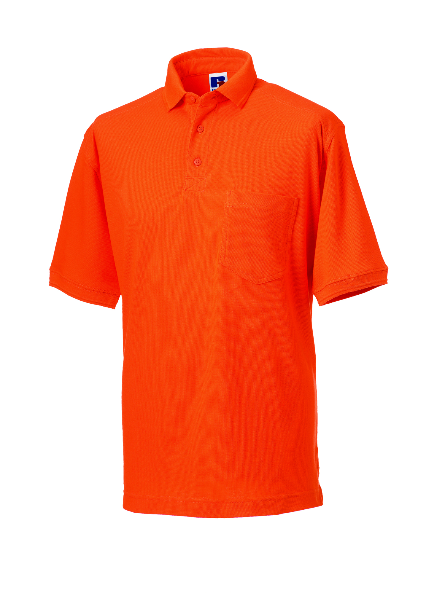 Heavy Duty Cotton Polo - Orange - S