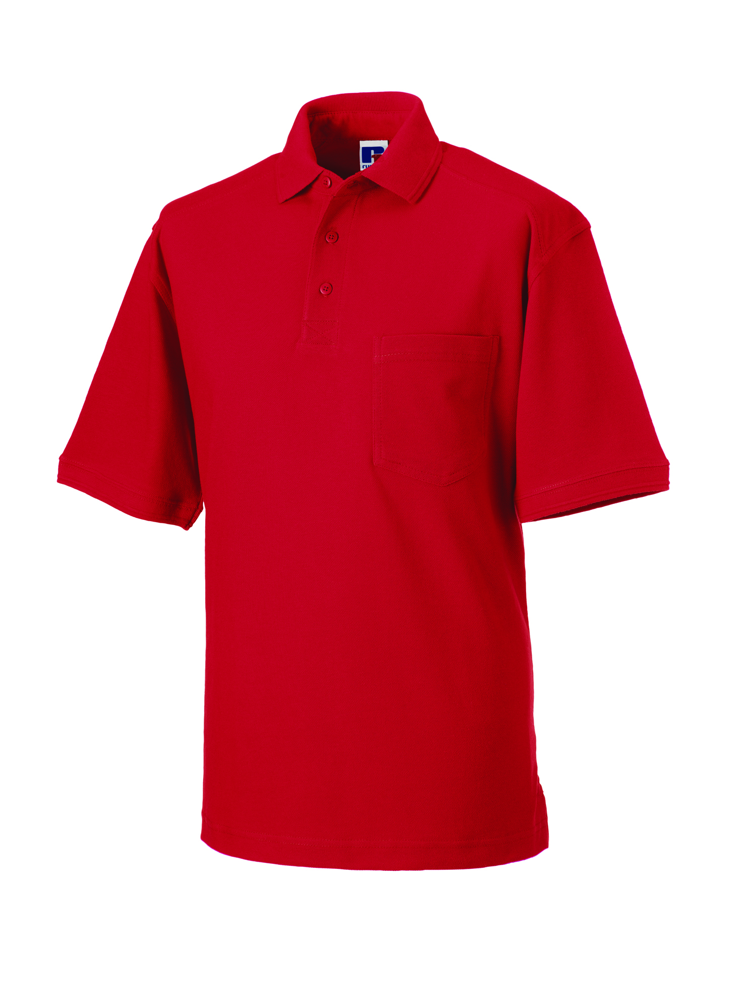 Heavy Duty Cotton Polo - Classic Red - S