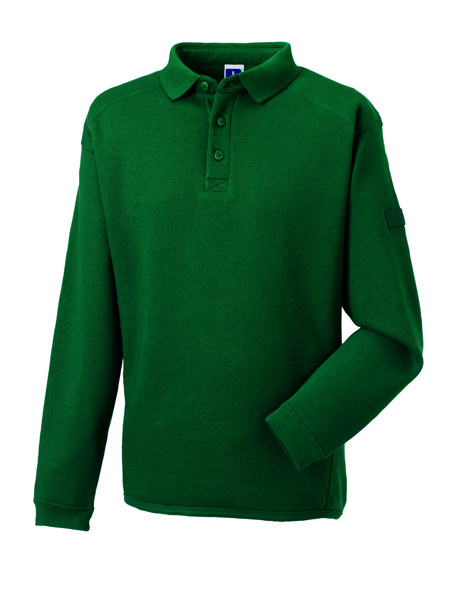 Heavy Duty Collar Sweatshirt - Bottle Green - XXL